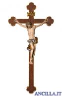 Crocifisso Barocco su croce barocca (blu)