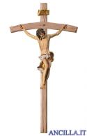 Crocifisso Barocco su croce curva (bianco)