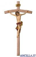 Crocifisso Barocco su croce curva (rosso)