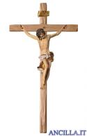 Crocifisso Barocco su croce diritta (bianco)