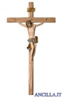Crocifisso Barocco su croce diritta (blu)