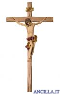 Crocifisso Barocco su croce diritta (rosso)