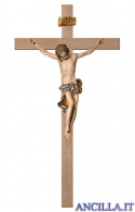 Crocifisso Barocco su croce liscia (blu)