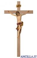 Crocifisso Barocco su croce liscia (rosso)