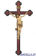 Crocifisso Leonardo anticato oro zecchino - croce anticata barocca