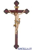 Crocifisso Leonardo anticato oro zecchino - croce oro barocca