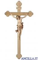Crocifisso Leonardo brunito 3 colori - croce barocca chiara
