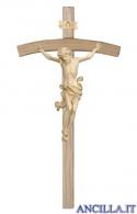 Crocifisso Leonardo cerato filo oro - croce curva