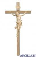 Crocifisso Leonardo cerato filo oro - croce diritta