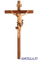Crocifisso Leonardo in resina con croce diritta