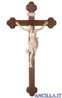 Crocifisso Leonardo naturale - croce barocca scura