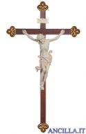 Crocifisso Leonardo naturale - croce barocca