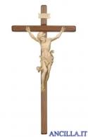 Crocifisso Leonardo naturale - croce diritta