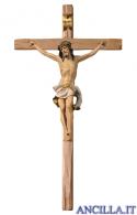 Crocifisso Nazareno dipinto a olio (bianco) - croce diritta
