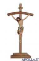 Crocifisso Siena anticato oro zecchino - croce curva con base