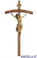 Crocifisso Siena anticato oro zecchino - croce curva scura