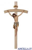 Crocifisso Siena anticato oro zecchino - croce curva