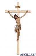Crocifisso Siena anticato oro zecchino - croce diritta chiara