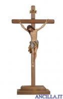 Crocifisso Siena anticato oro zecchino - croce diritta con base