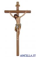 Crocifisso Siena anticato oro zecchino - croce diritta scura