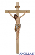 Crocifisso Siena anticato oro zecchino - croce diritta