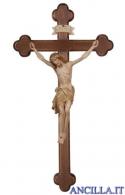 Crocifisso Siena brunito 3 colori - croce barocca scura