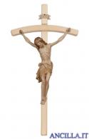 Crocifisso Siena brunito 3 colori - croce curva chiara