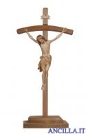 Crocifisso Siena brunito 3 colori - croce curva con base