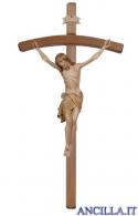 Crocifisso Siena brunito 3 colori - croce curva scura