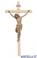 Crocifisso Siena brunito 3 colori - croce diritta chiara