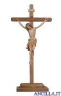 Crocifisso Siena brunito 3 colori - croce diritta con base