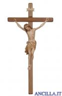 Crocifisso Siena brunito 3 colori - croce diritta scura