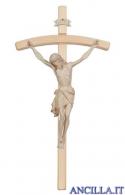 Crocifisso Siena cerato filo oro - croce curva chiara