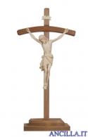 Crocifisso Siena cerato filo oro - croce curva d'appoggio