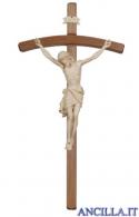 Crocifisso Siena cerato filo oro - croce curva scura