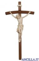 Crocifisso Siena cerato filo oro - croce curva