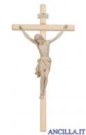 Crocifisso Siena cerato filo oro - croce diritta chiara
