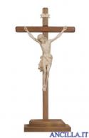 Crocifisso Siena cerato filo oro - croce diritta d'appoggio