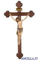 Crocifisso Siena - croce brunita barocca