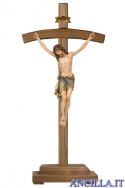 Crocifisso Siena - croce curva con base d'appoggio
