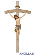 Crocifisso Siena dipinto a olio - croce curva