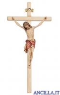 Crocifisso Siena dipinto a olio - croce diritta chiara