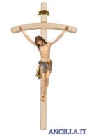 Crocifisso Siena in fibra di vetro con croce curva