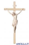 Crocifisso Siena naturale - croce diritta chiara