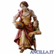 Contadina con bambino Ulrich serie 8 cm