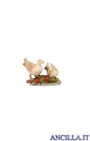 Coppia di colombe Kostner serie 12 cm