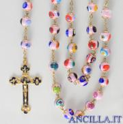 Corona del Rosario mosaico veneziano rosa e oro