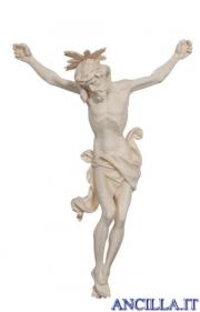 Cristo Leonardo con raggiera legno naturale non dipinto