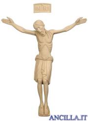 Cristo San Damiano legno naturale non dipinto