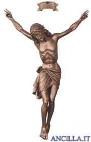 Cristo Siena in fibra di vetro bronzato